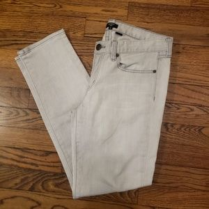 J Crew Toothpick Light Gray Jeans